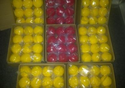 red and yellow dimple balls1