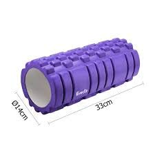 FITGURU, EVA Foam Trigger Massage Roller for Athletes, Crossfit, Yoga and Physical Therapy with Multi Color (FBA)