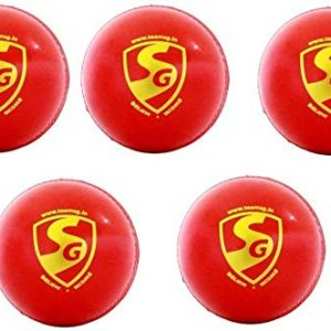 SG 'Everlast' Synthetic Cricket Leather Ball - Pack of 5