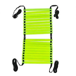 Midoff Speed Ladder |Agility Ladder|Adjustable Ladder 8m|Speed Ladder for Exercise| Track and Field|Sports Fitness Training 8 Meter 20 rungs|with Black Carry Bag