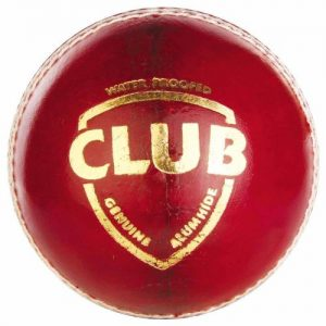 SG Club Leather Ball (Red), Pack of 1