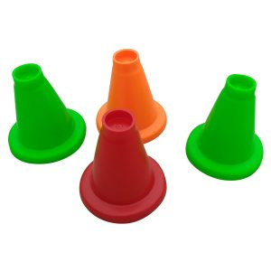 Foricx Rubber Cricket Batting Tee (Multi-Color, Pack of 4) | Sports Cricket Batting Tee