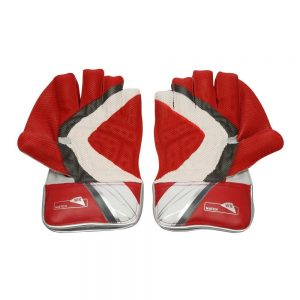SS Match Men's Wicket Keeping Gloves (Red/White)