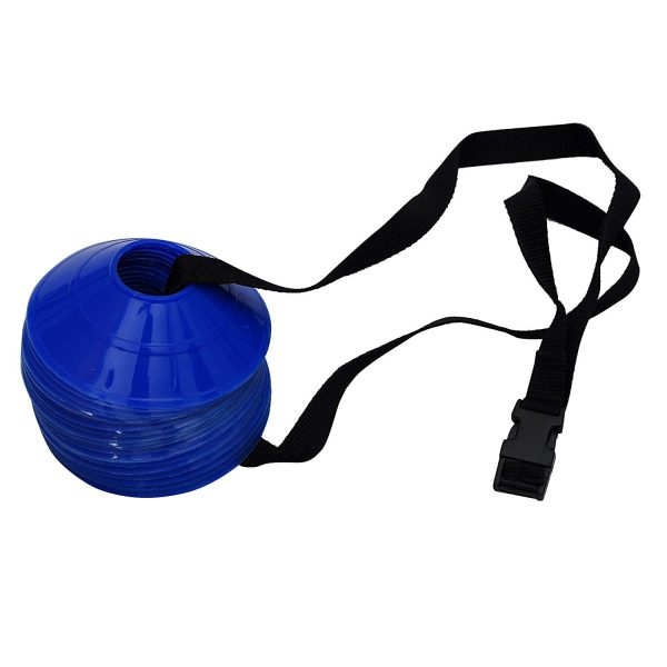 GSI Mini Soccer Cones Saucer Cones Disc Cones with Shoulder Strap for Agility Training, Football, Soccer, Field Cone Markers
