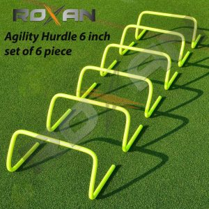 Foxsus Agility Hurdle 6 inch Set of 6 pc | Track and Field Agility Hurdles | Speed Training Agility Hurdle for Unisex Adults